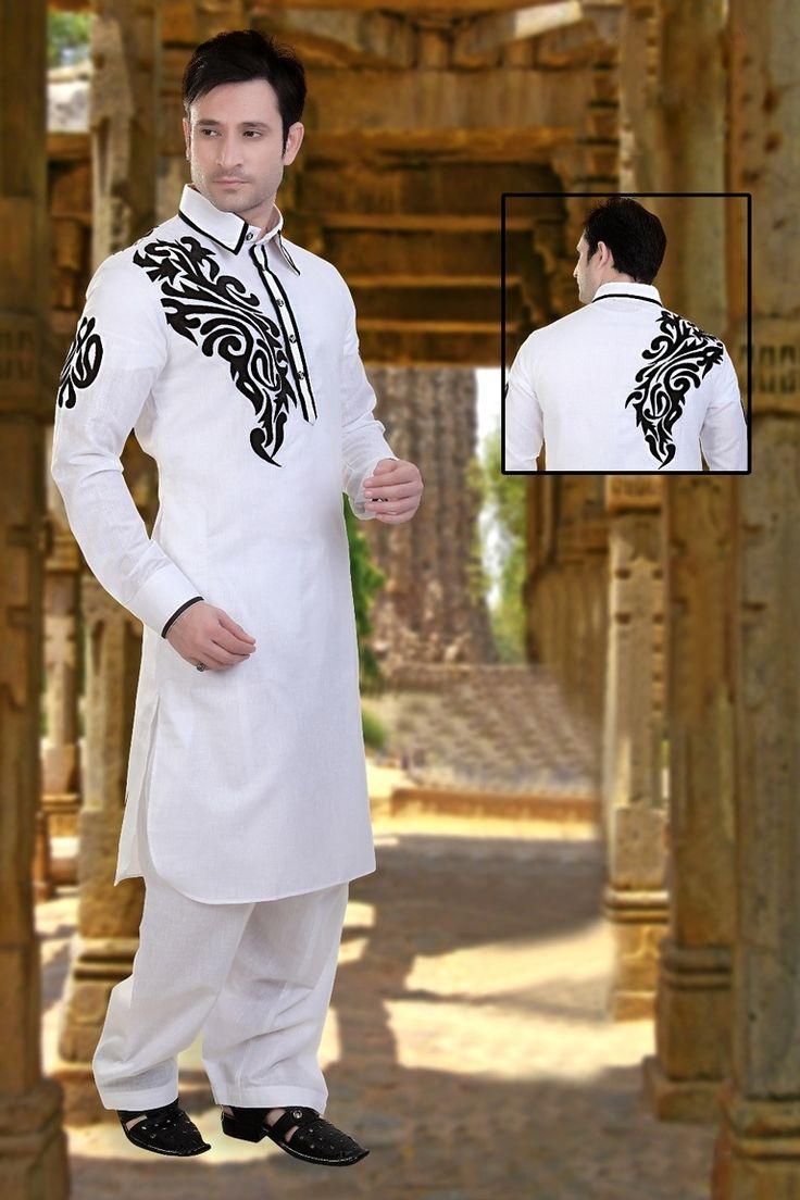 Alluring White Color Kurta Payjama
