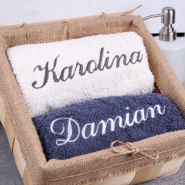 Komplet personalizowanych ręczników ONA I ON