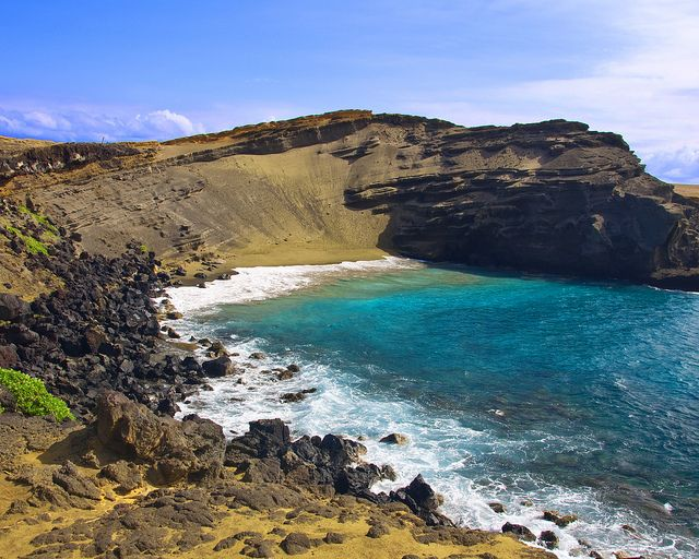 Green Beach Big Island Hawaii