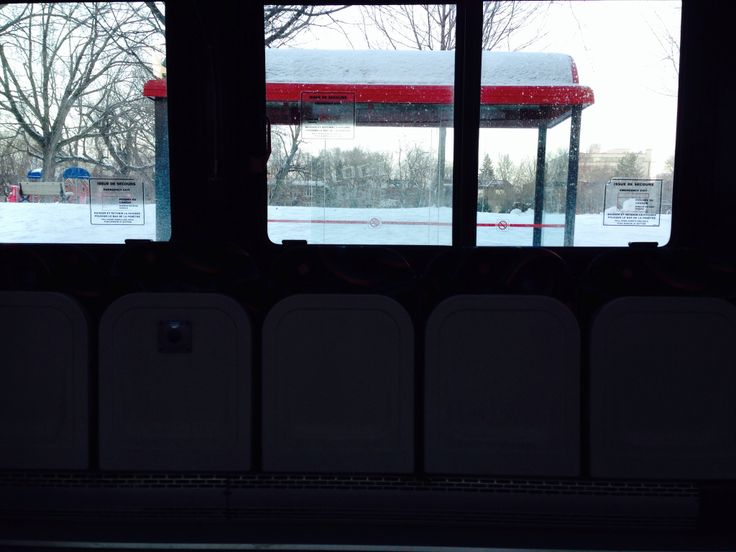 On the bus. Winter picture