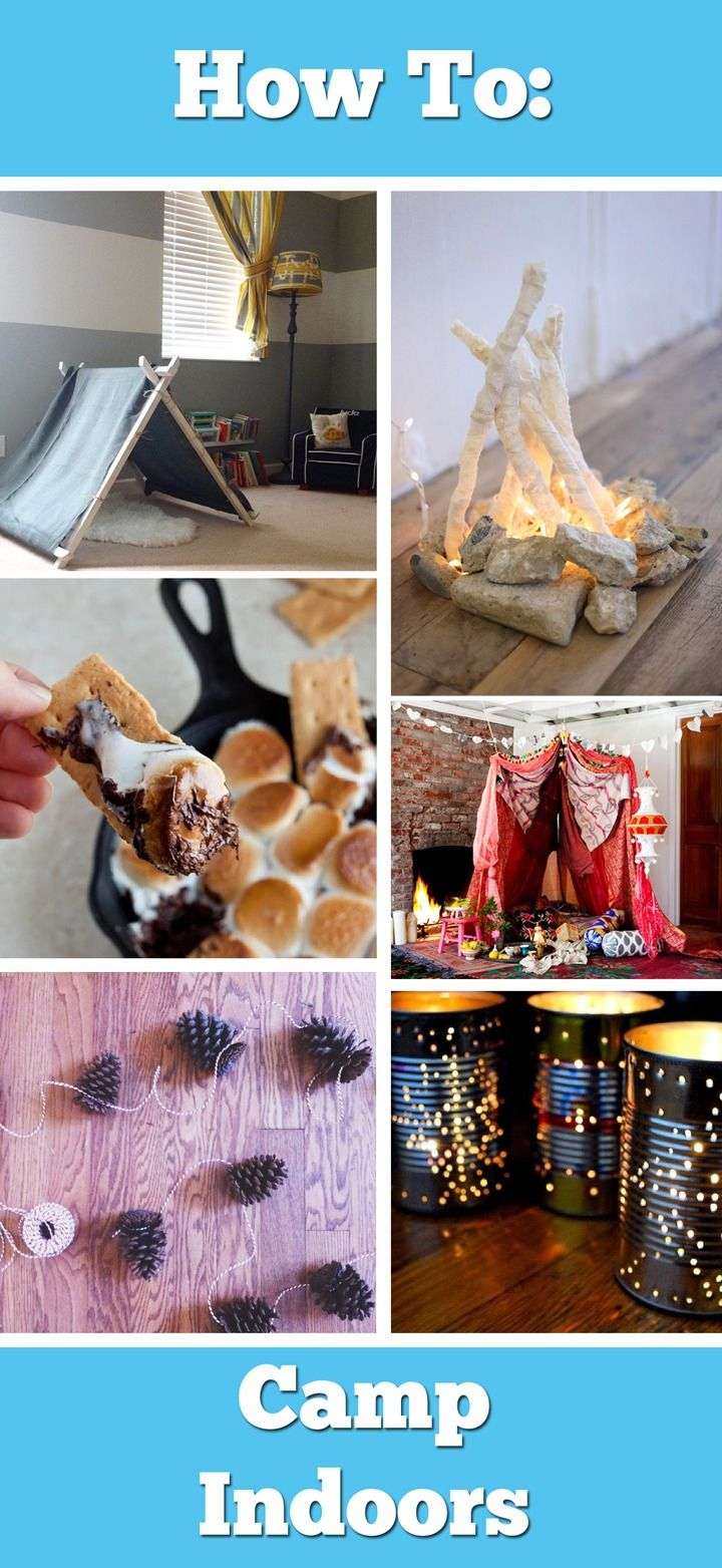 17 Best Ideas About Indoor Camping On Pinterest Smores