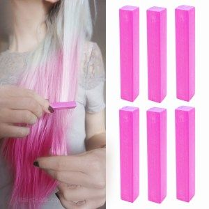 hot vivid pink hair chalk hair color