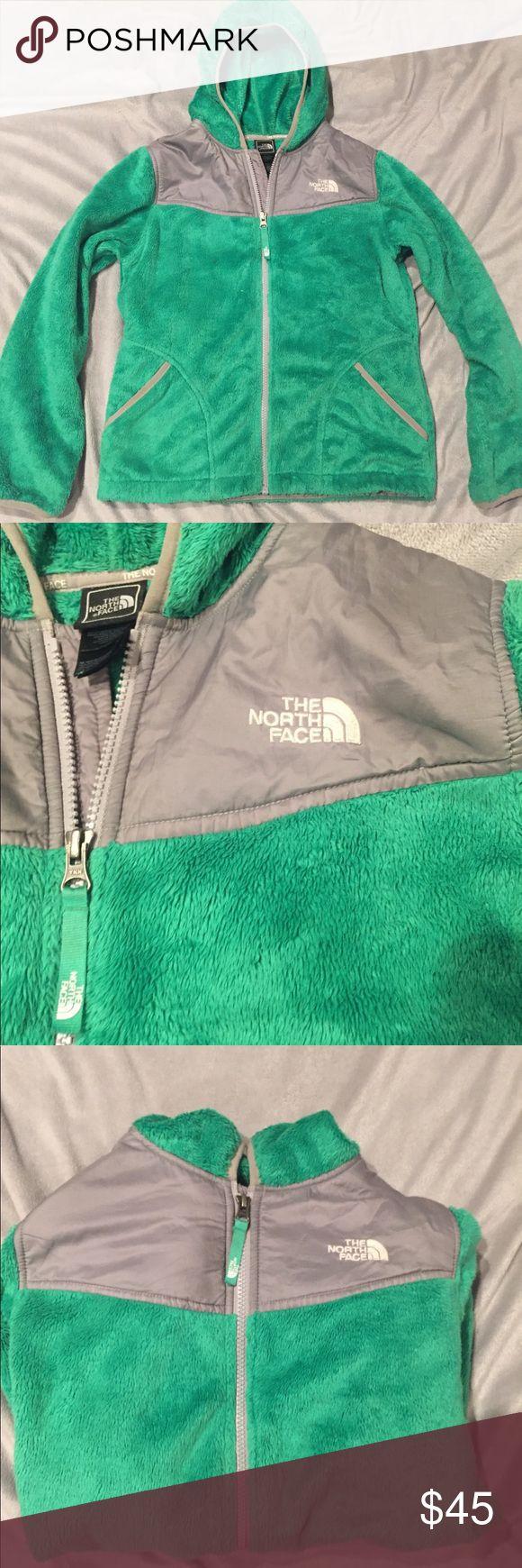 Kid's Northface Fleece Zip-up Jacket Green, zip up Jacket, size L 14/16, never worn North Face Jackets & Coats Pea Coats