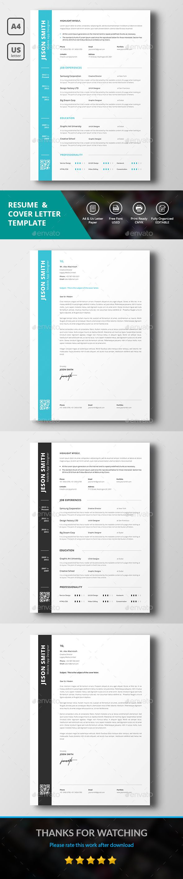 Simple #Resume - #Resumes Stationery Download here:  https://graphicriver.net/item/simple-resume/20356399?ref=alena994