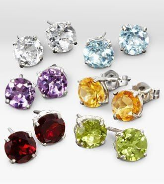 Colorful and set to sparkle, this collection of genuine gemstone earrings is a perfect gift for any of life's special occasions. Includes: Garnet, Amethyst, Citrine, Peridot, Blue Topaz and... More Details