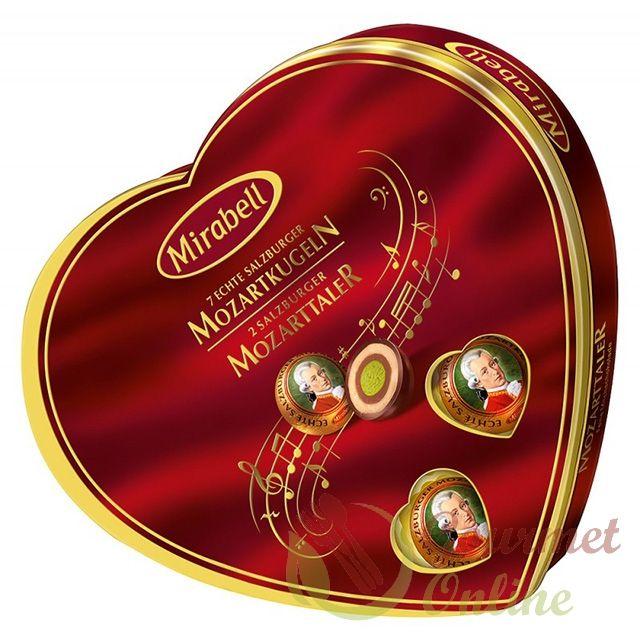 Bomboane asortate Mozart, Inima, 150g
