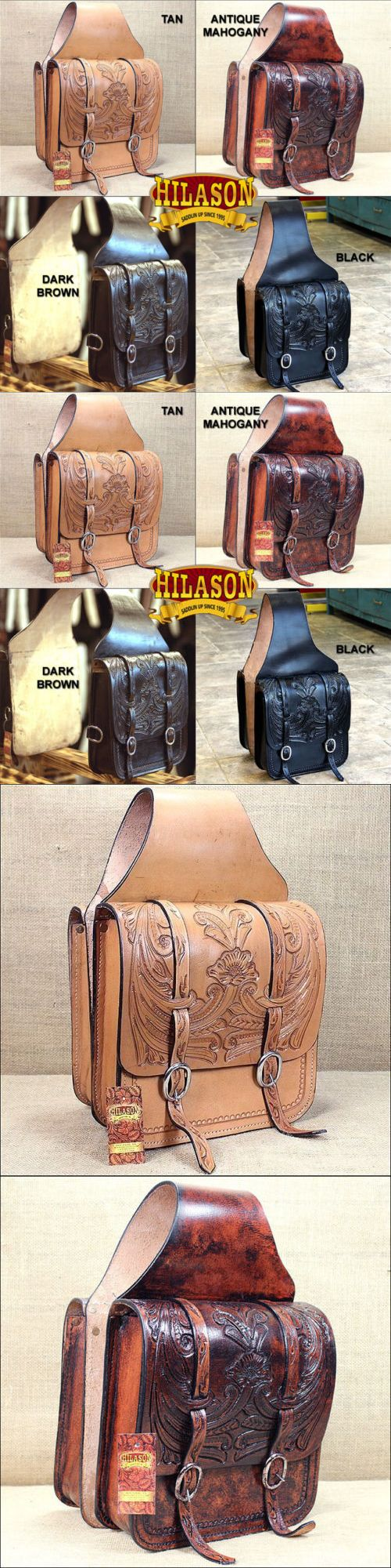 Saddle Bags 47300: Hilason Western Leather Cowboy Trail Ride Horse Saddle Bag 12 X 11 X 3.5 Inch -> BUY IT NOW ONLY: $164.95 on eBay!