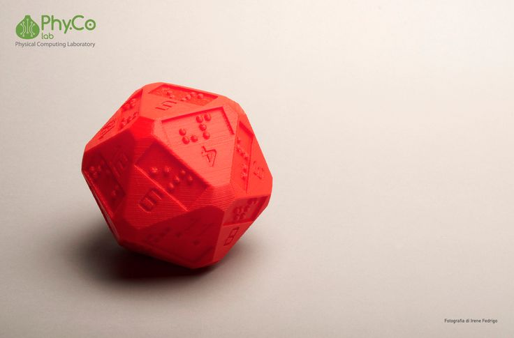 D20 (20 sided dice) with additional braille numbers by idellwig