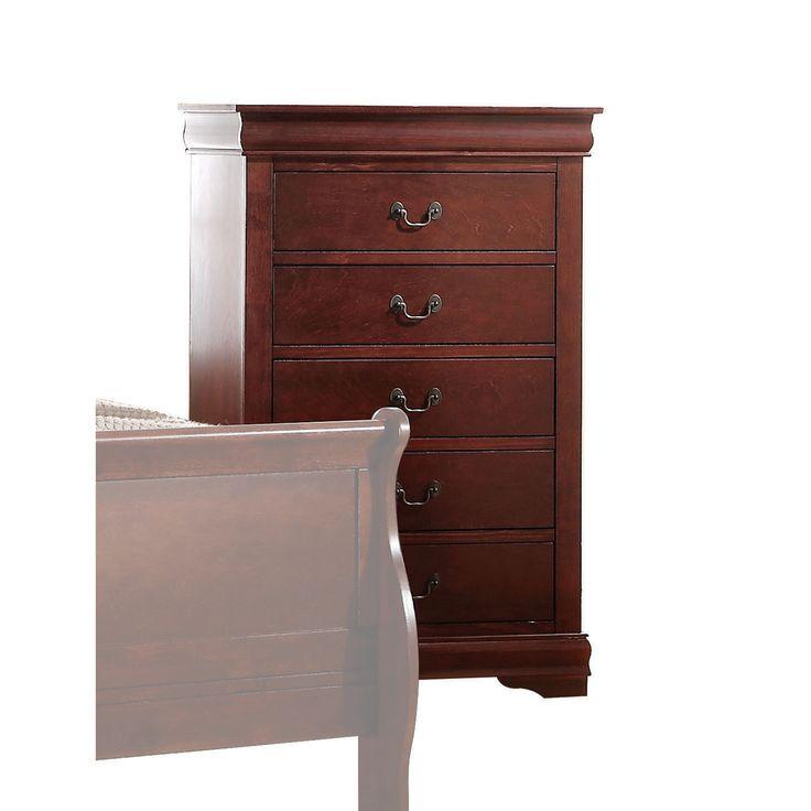 Acme Furniture Louis Philippe Multicolor Wood Chest