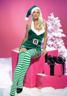 Feel seductive in this womens elf costume #elf #christmas #christmaself #costume #christmascostume #elfcostume