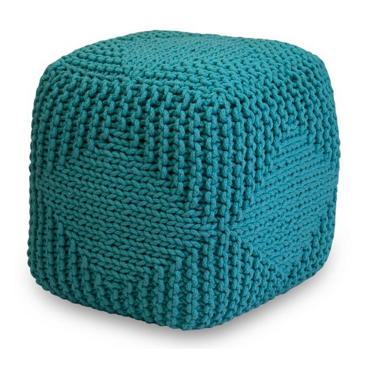 Knitted Ottoman Teal