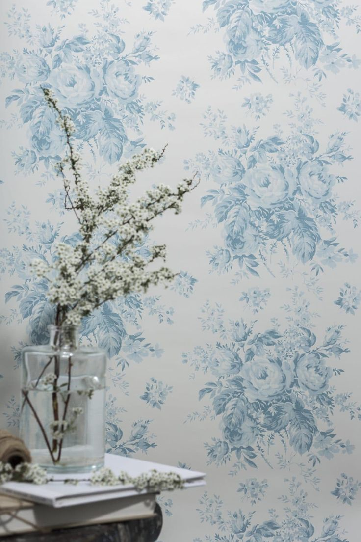 Wallpaper Ideas We Love Blue Wallpaper Living Room Turquoise Living Room Decor Country Cottage Decor