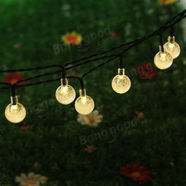 Solar 30 LED Outdoor Waterproof Party String Fairy Light Festival Ambience Lights Sale - Banggood.com