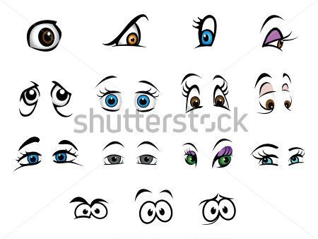 Colección DE Dibujos Animados Vector Ilustración Ojos imágenes ...