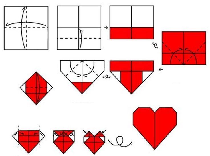 Открытки сердечки оригами