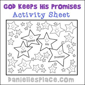 "Abraham ""God Keeps His Promises"" Activity Sheet for Sunday School from www.daniellesplace.com"