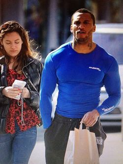 Old pic from the Daily Mail of Kelly Brook with her old flame David Mckintosh, Ex gladiator 'Tornado'