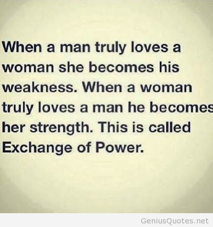 When a man truly loves a woman