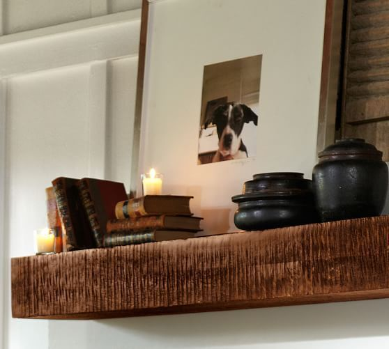 Benchwright Shelf | Pottery Barn - We have lots and lots of family pictures; a couple of these would facilitate nice collages