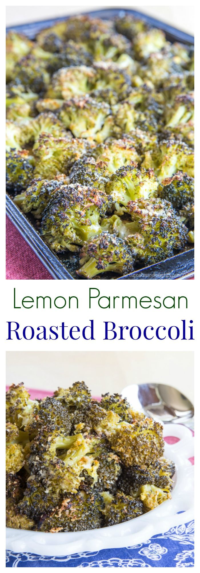 Lemon Parmesan Roasted Broccoli - a healthy and simple side dish with tons of flavor.