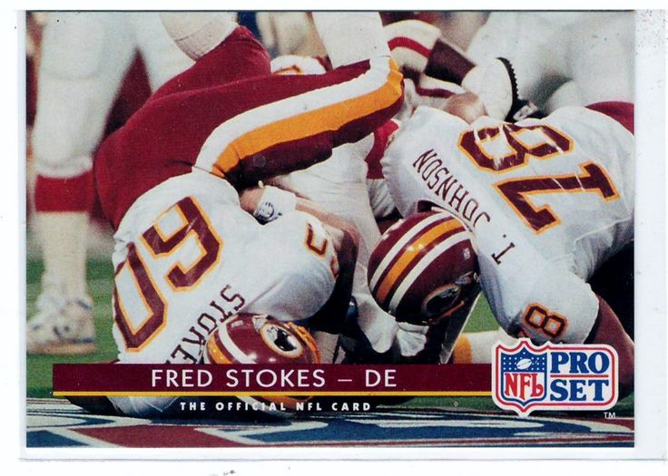 Sports Cards Football - 1992 NFL Pro Set Fred Stokes