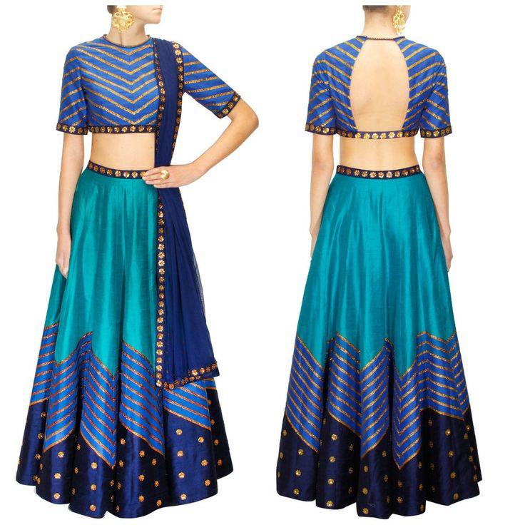 SFH Indian Designer Bollywood Sari Party Saree Lehenga Pakistani Wedding S-1025…