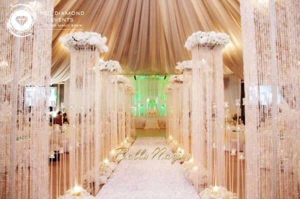 BN Wedding Decor: Great Gatsby Wedding in Nigeria by Red Diamond Events