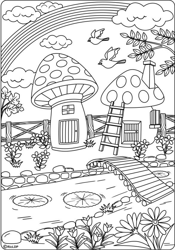 20 coloring pages for grownups page 20 #coloring #colouring