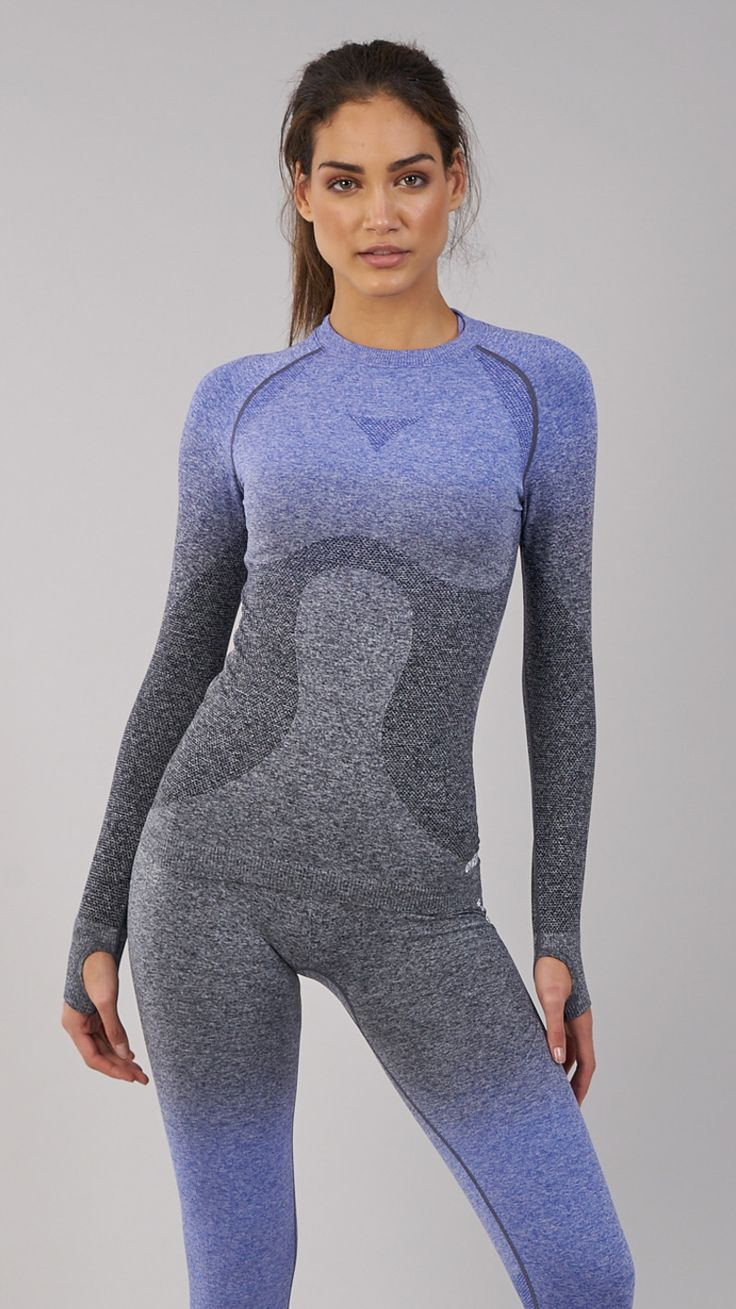 The Gymshark Ombre Seamless Long Sleeve Top's innovative seamless knit technology is soft and guarantees lasting comfort, whilst beautiful ombre fade scores limitless style points. Coming soon in Indigo and Black.