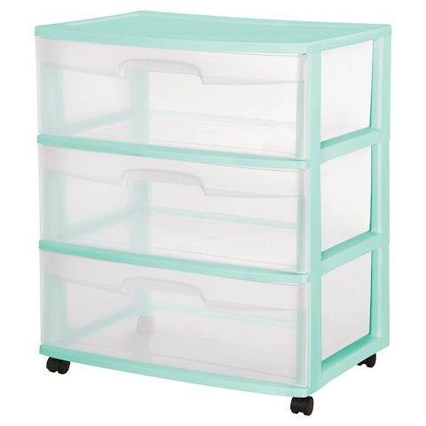 sterilite deep closet drawer- white, case of 3 2