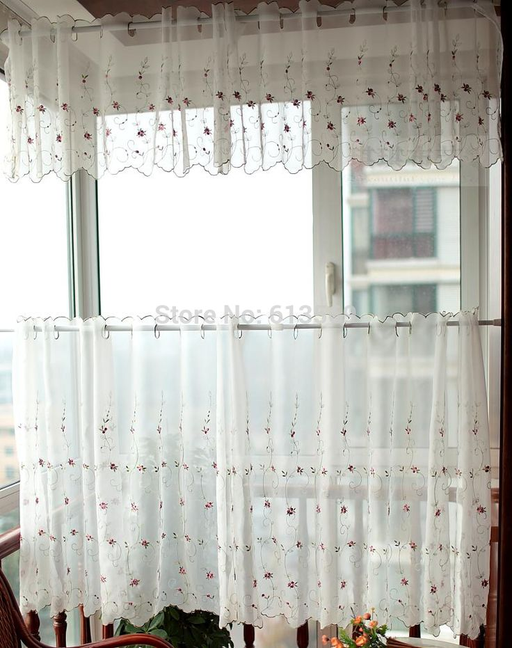 Layered Half Window Curtains