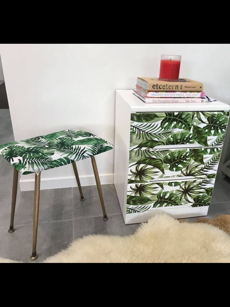 Retro stool and bedside