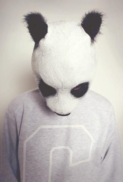 Sad panda boy: Teddy Bears, Animal Head, Art, Manim Pandas, Animal Human, Pandas Boys, Animal Headz, Animal Masks, Photography Inspiration