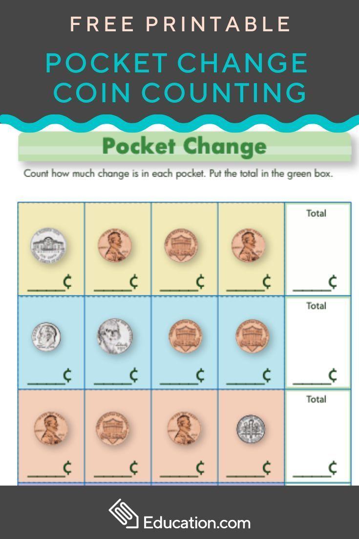 Coins For Kids Worksheet Education Com Money Worksheets Money Math Money Math Worksheets [ 1102 x 735 Pixel ]