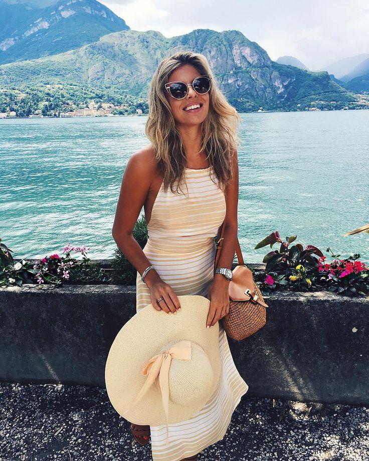 tashoakley Spending today strolling around the amazing town of Bellagio  wearing @faithfullthebrand