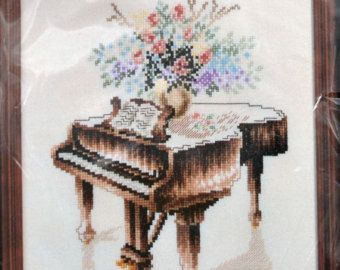 Piano Horn Violin Cross Stitch Kit - Google Search