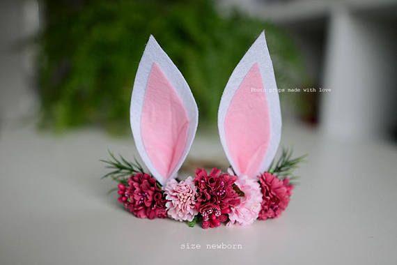 Easter bunny headband prop photography party newborn