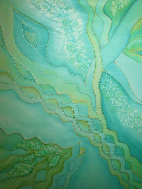 silk scarf (hand painted, cm 90 x 90 cm)