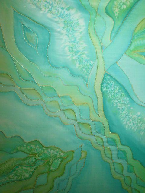 silk scarf (hand painted, cm 90 x 90 cm)