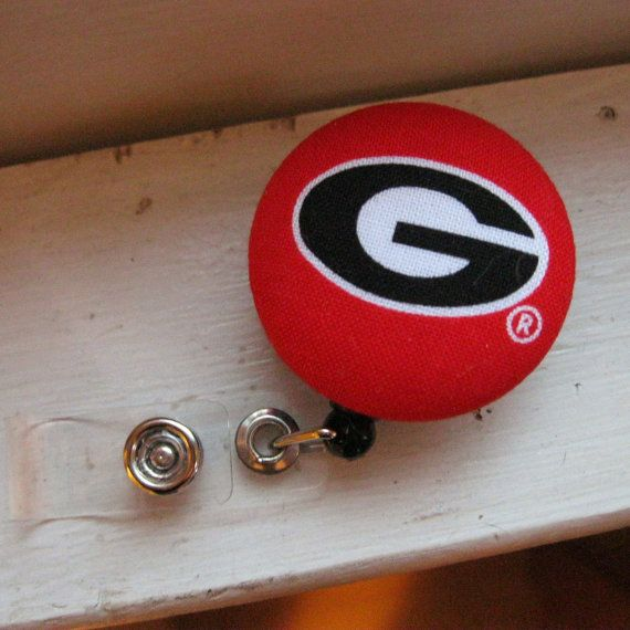 UGA Bulldogs Retractable ID Badge Reel by SweetAnnaCreations, $6.00