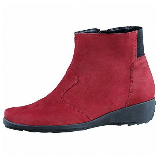 Waldläufer Hanin 348803-203 - Damenschuhe modische Stiefelette, Rot, Leder (Nubuk-Soft) - Stiefel für frauen (*Partner-Link)