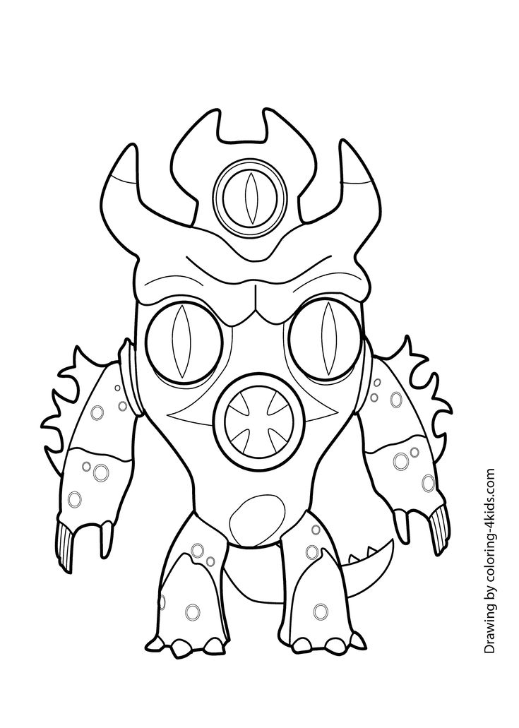 Big hero Fred Zilla coloring page
