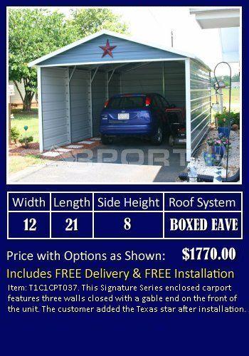 Enclosed Carport Prices