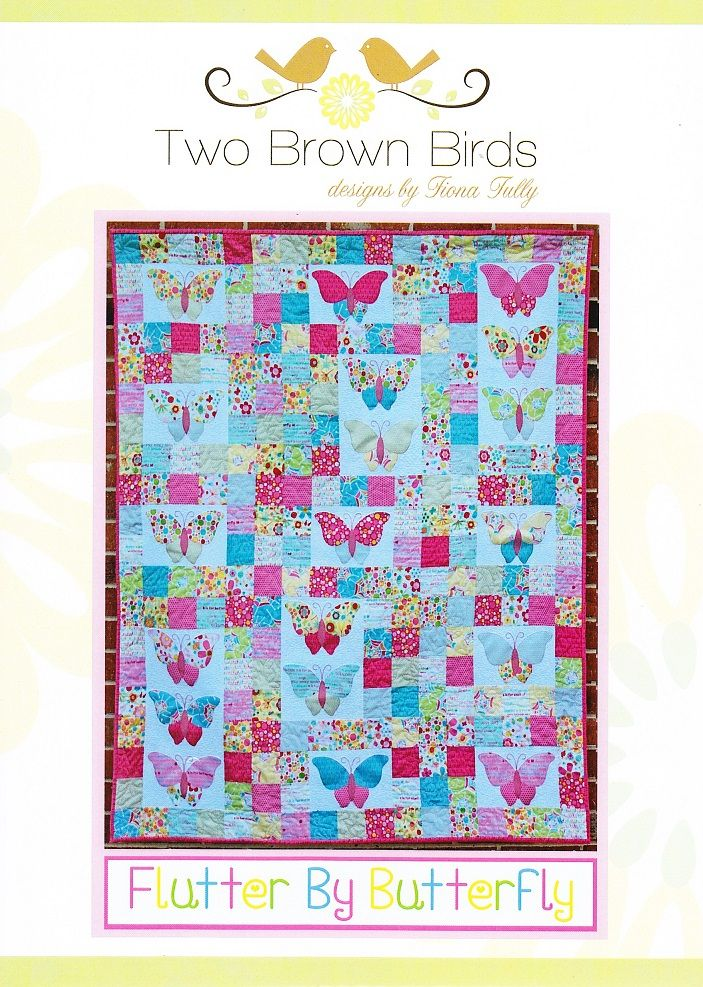 Flutter by Butterfly quilt pattern designed by Two Brown Birds