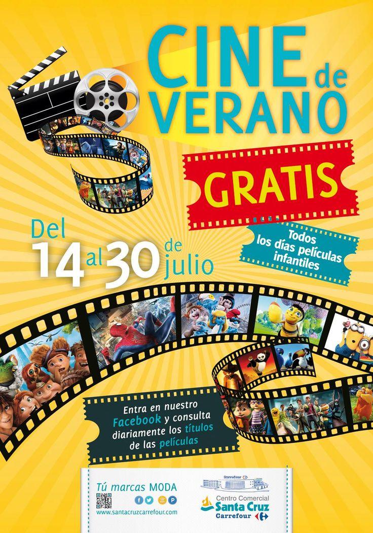 ¡¡Este #verano el Centro Comercial Santa Cruz Carrefour te invita al #cine !! ¡Más de 40 títulos de las últimas #novedades infantiles! :D  Del 14 al 30 de #Julio de 2014. ;)  LISTA DE PELÍCULAS:  http://on.fb.me/U0AlZ9