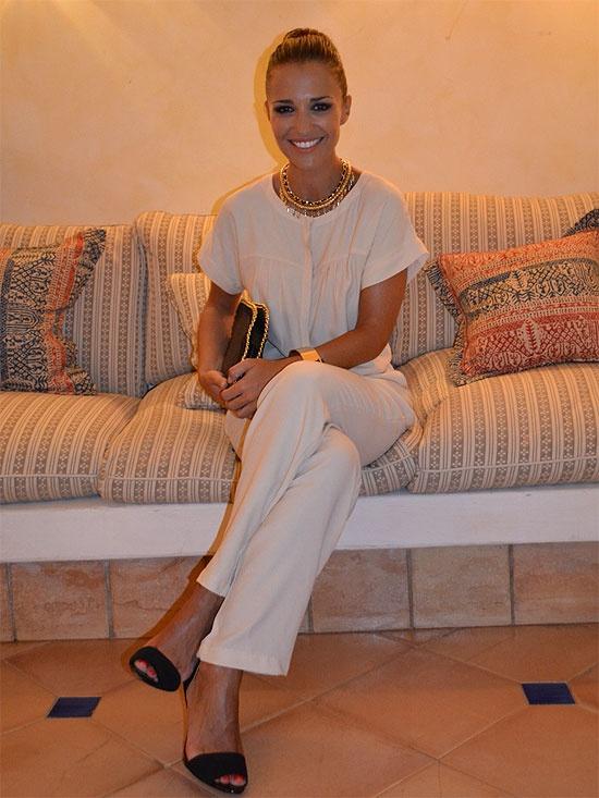 Paula Echevarria: cream jumpsuit
