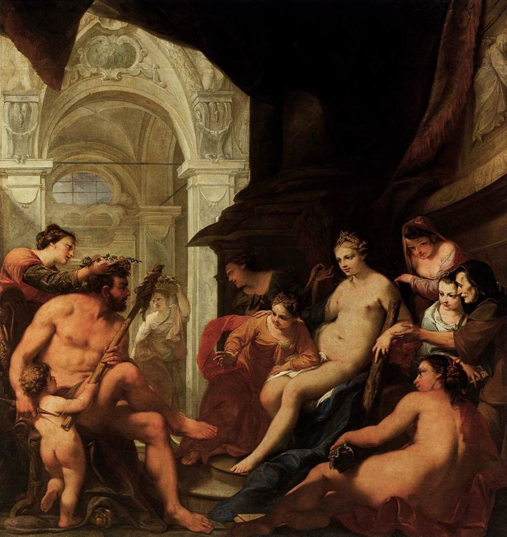 Hercules in the Palace of Omphale - Antonio Bellucci