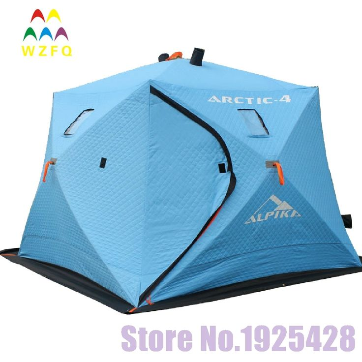 196.49$  Watch here - http://ali5sv.worldwells.pw/go.php?t=32741368413 - 5-6 persons automatic pop up winter Ice fishing tent heat preservation 600 D oxford  thicken cotton beach outdoor camping tent 196.49$