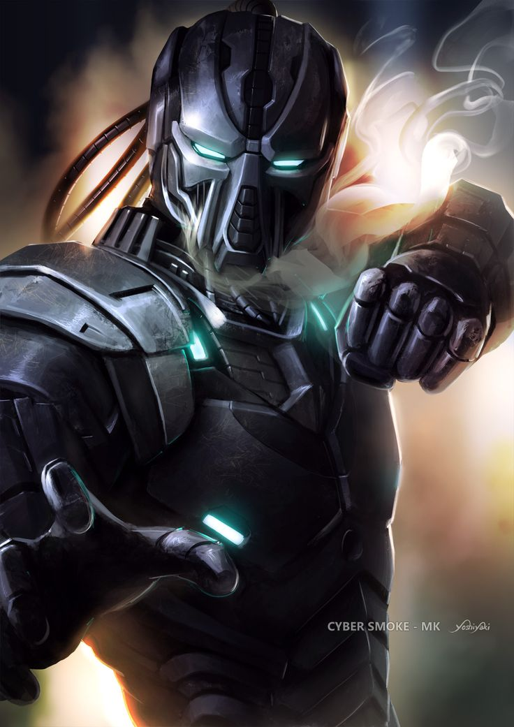 Cyber Smoke  Mortal Kombat Digital Art Paintings & Airbrushing Games Fan Art Character Mortal Kombat