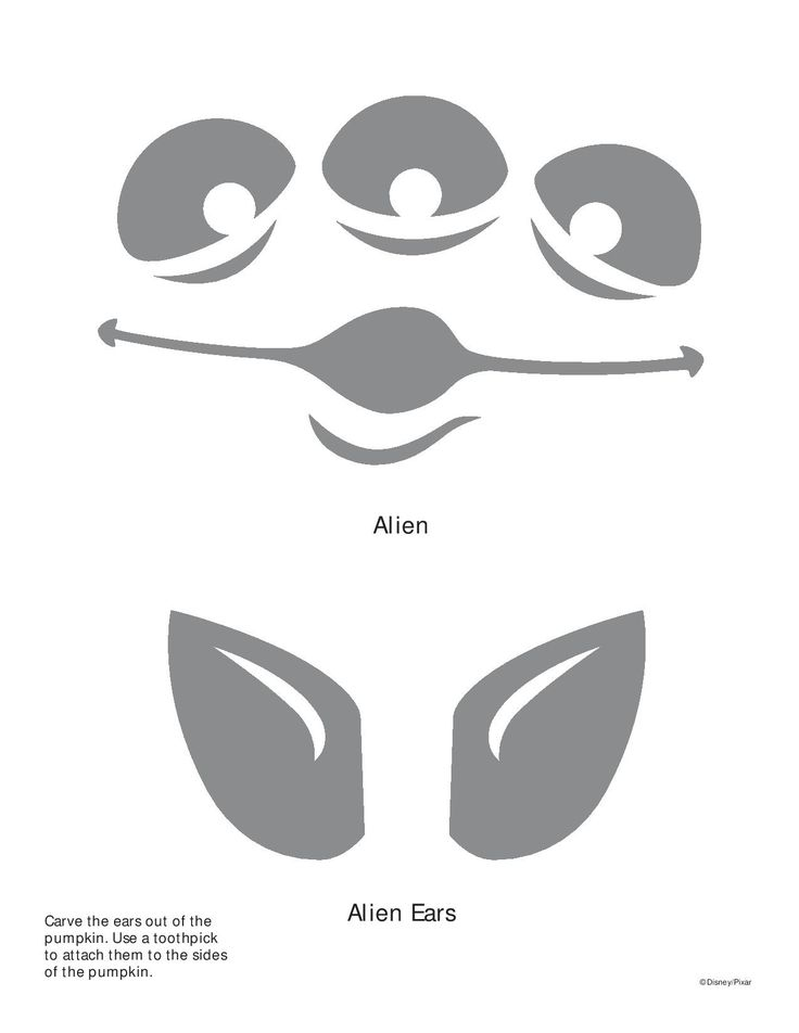 Alien toy story Pumpkin stencil